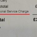 レストラン・カフェのチップとDiscretionary Service Charge